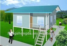 modern luxury prefab steel structure villa / mobile house for sale