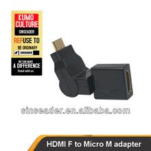 Micro HDMI adapter, 360 degree swivel HDMI F to Micro HDMI M adapter