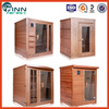 Dry steam 1-4 person sauna room portable wooden indoor steam sauna room