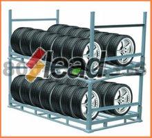 Stackable Folded Metal Floor Display Tyre Stand