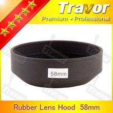 Professional For Digital Camera Lens Hood 58mm Rubber Lens Hood