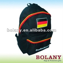 World cup flag printed school backpack laptop backpack