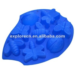 Silicone Butterfly and Bee Cake Molds ECN-126