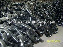 black U2 stud link anchor chain