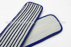 Microfiber dust flat mops( horizontal looped mop pads )