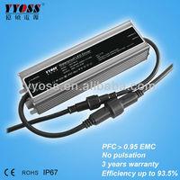 PFC(0.95) EMC 100W 12v~54v power supply led driver (5 years warranty)