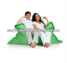 teal green square beanbag , durable bean bag chair