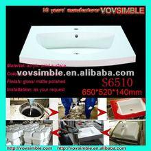 wall hung wash basin solid surface wash basin in China manufacture