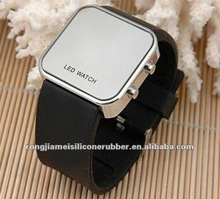 Hot sale fancy silicone LED watches women promotional gifts