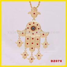 Wholesale good luck pendants hamsa necklace pendent raven charms