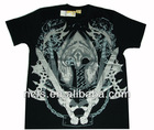 Men's 100%cotton short sleeve t shirt printing on front panel