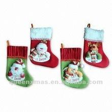 Santa Snowman Bear Deer Patterns Christmas Sock