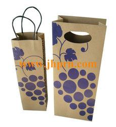 New single bottle paper wine bag
