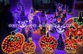 gato negro y la luz de calabaza de halloween decoración decoración de la navidad
