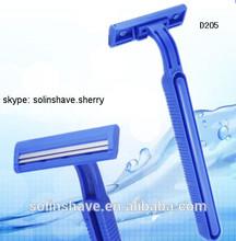 D205 twin blade shaving razor with/without lubricant strip / Les lames de rasoir jetables