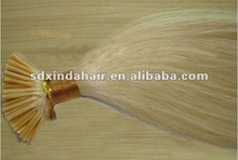 """wholesale 8""""-32"""" blonded sticker I tip keratin human hair extensions"""