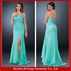 OC-049 Charming ladies strapless sweetheart high front slit formal evening gowns 2012