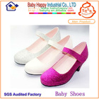 blue glitter children shoes with bow-tie for girls