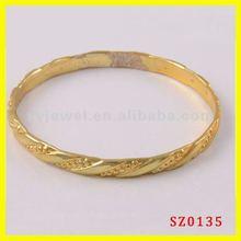Wholesale plain gold bangle gold plated cuff bangle 22k gold bangles