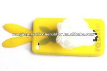 Unique design fashion cheap price silicone back cover for Iphone color