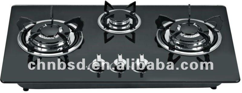 3 encimera de gas quemador cocina vitrocer mica de la - Cocinas vitroceramicas de gas ...