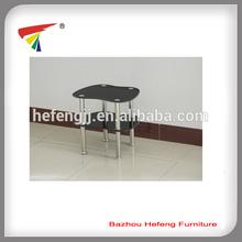 heart shape glass side table corner table