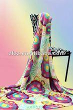 super soft printed coral fleece blanket fabric