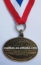 plating antique gold sport medal M 0009