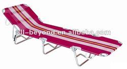 High quality texline strong luxury alumium folding beach bed