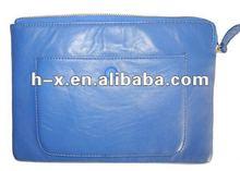 2012 real leather fashion clutch handbag