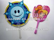 Promotional cute Plastic hand fan sticks