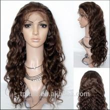 100% Human Hair Full Lace Wigs Hand Tied Body Wave Virgin Brazilian Beautiful Wig