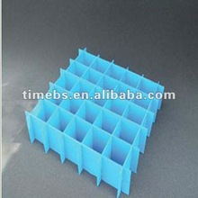 Blue corrugated plastic dividers with 25 cells