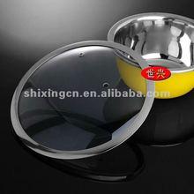 New Korea T type Aluminium Non-stick Cookware tempered cover glass