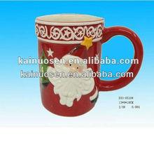 Popular 11oz porcelain santa mugs