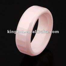 fashion 2012 highly polished pink ring ceramic