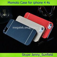 Momoto hard aluminum phone case for iphone 4 4s, for iphone 4s case motomo ,for iphone case 4s 5s 6 aluminum