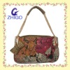 2012 popular pu tote bag with metal chain handle+bowknow with bead