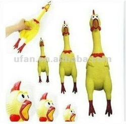 2012 Super Funny Scream Shrilling Rubber Chicken promotion gift toy