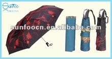 3 Folding auto open and closed umbrella