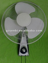 Quiet-operation 16 inch 3 speeds plastic wall monuted fan