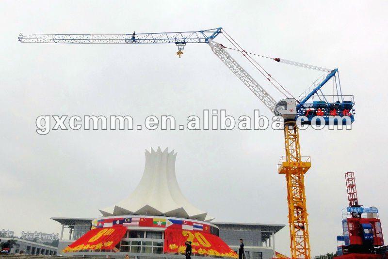 Jib Crane Licence : Qtz a goose neck jib tower crane view