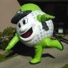 golf ball inflatable figure