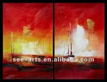 Modern Art Oil Painting for Hotel Lobby Decoration