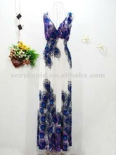 wholesale peacock prom dresses 2013 high quality big size maxi dress accept OEM R1583