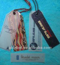 2012 fashionable garment label hang tags
