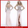 OC-256 High neck evening dress blush pink evening dresses blush colored evening dresses thigh high evening dress