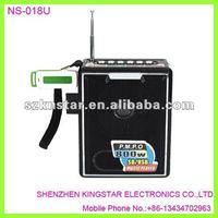 NS-018u mini portable micro sd card speaker,fm receiver