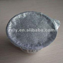 Aluminum foil dealer for lid sealing