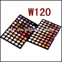 hot! W 120 full Color eyeshadow palette muti-colored makeup kit double layer neutral warm cosmetic